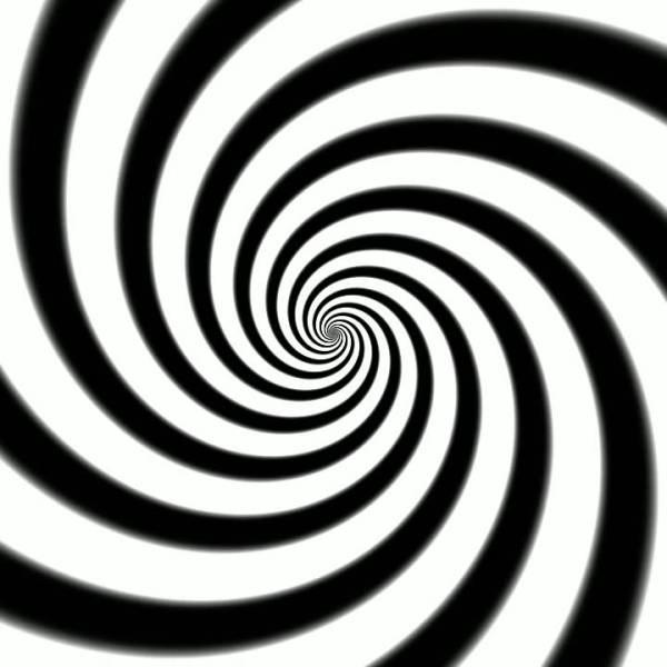 Espiral en color blanco y negro